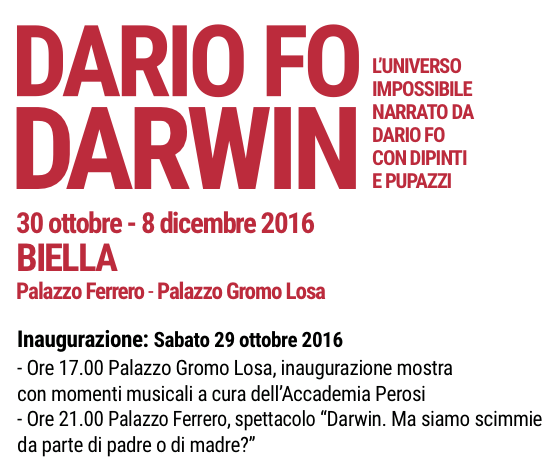 Dario Fo Darwin Biella