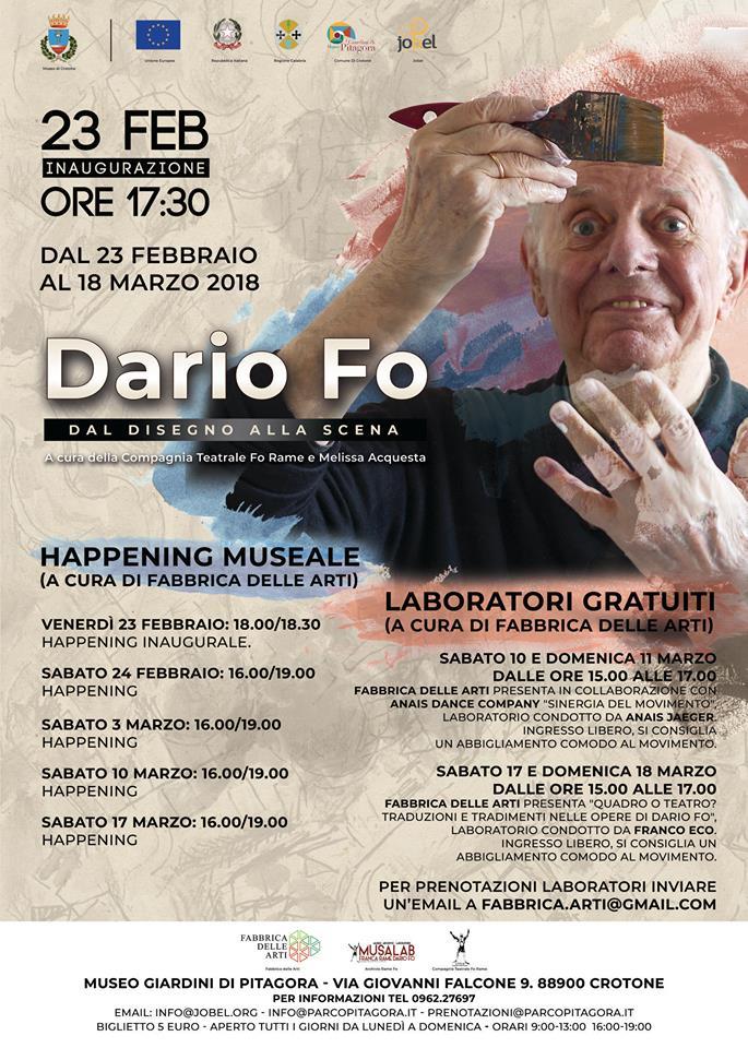Mostra Dario Fo a Crotone