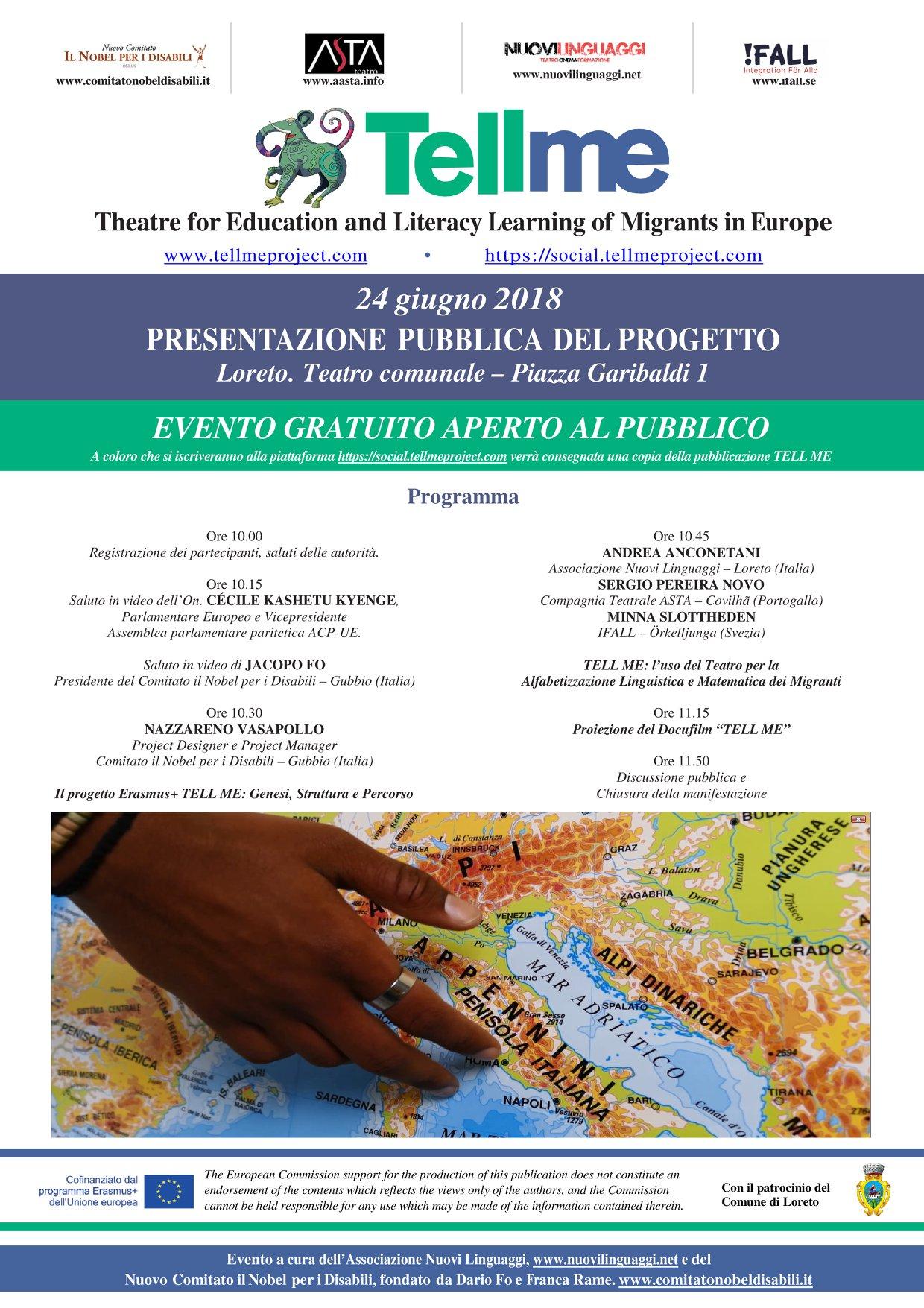 Presentazione progetto TellMe a Loreto