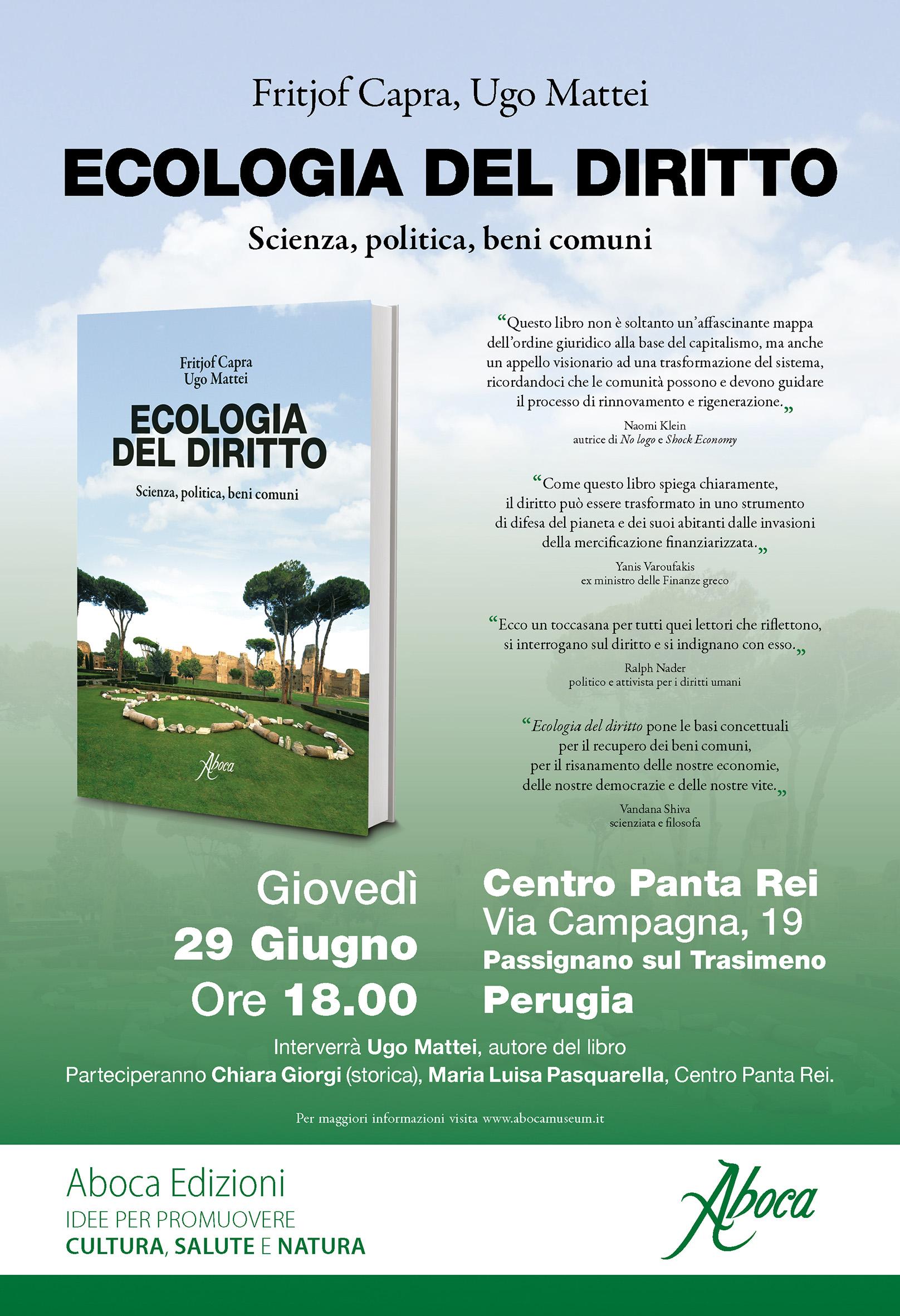 Ecologia del Diritto al Centro Panta Rei di Perugia