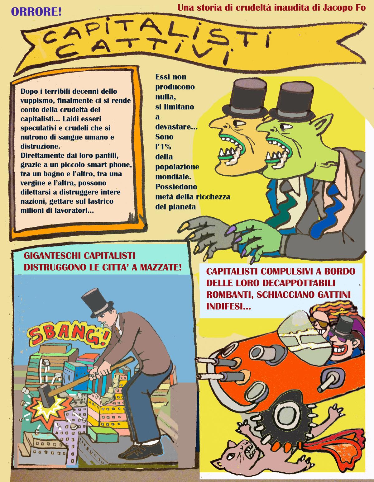 Fumetti Jacopo Fo Capitalisti cattivi 1