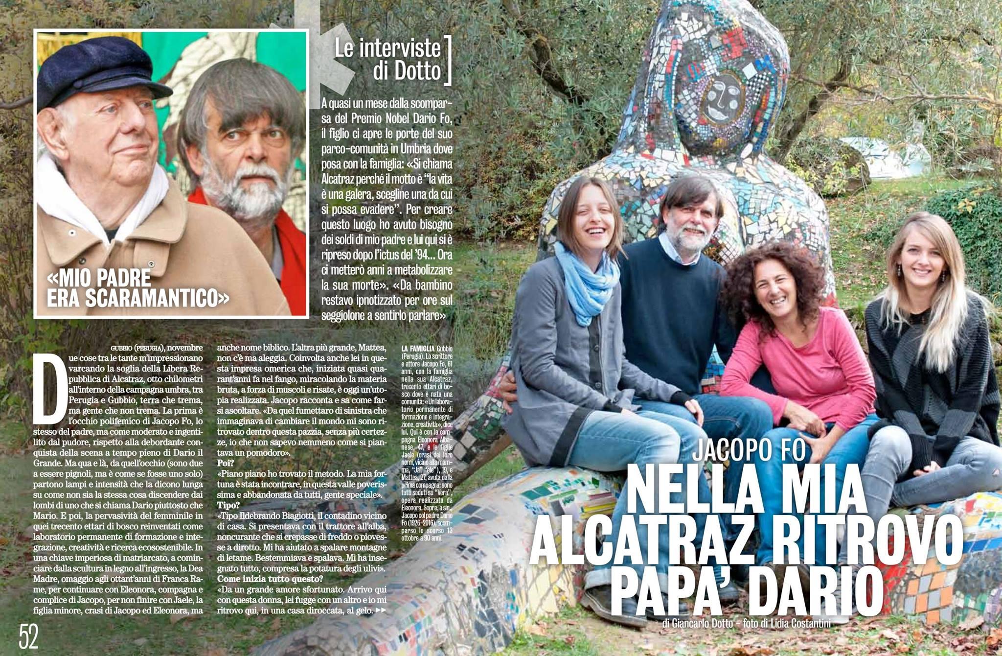 Diva e Donna Novembre 2016 Jacopo Fo Dario Fo