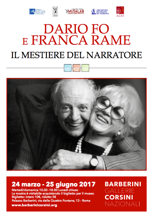 Dario Fo e Franca Rame: il mestiere del narratore. Mostra a cura della Compagnia Teatrale Fo-Rame