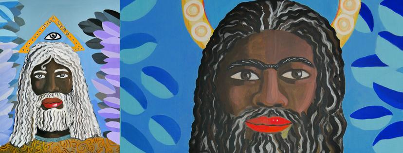 Dio è nero (E Gesù è un profugo siriano)  Mostra di dipinti di Jacopo Fo