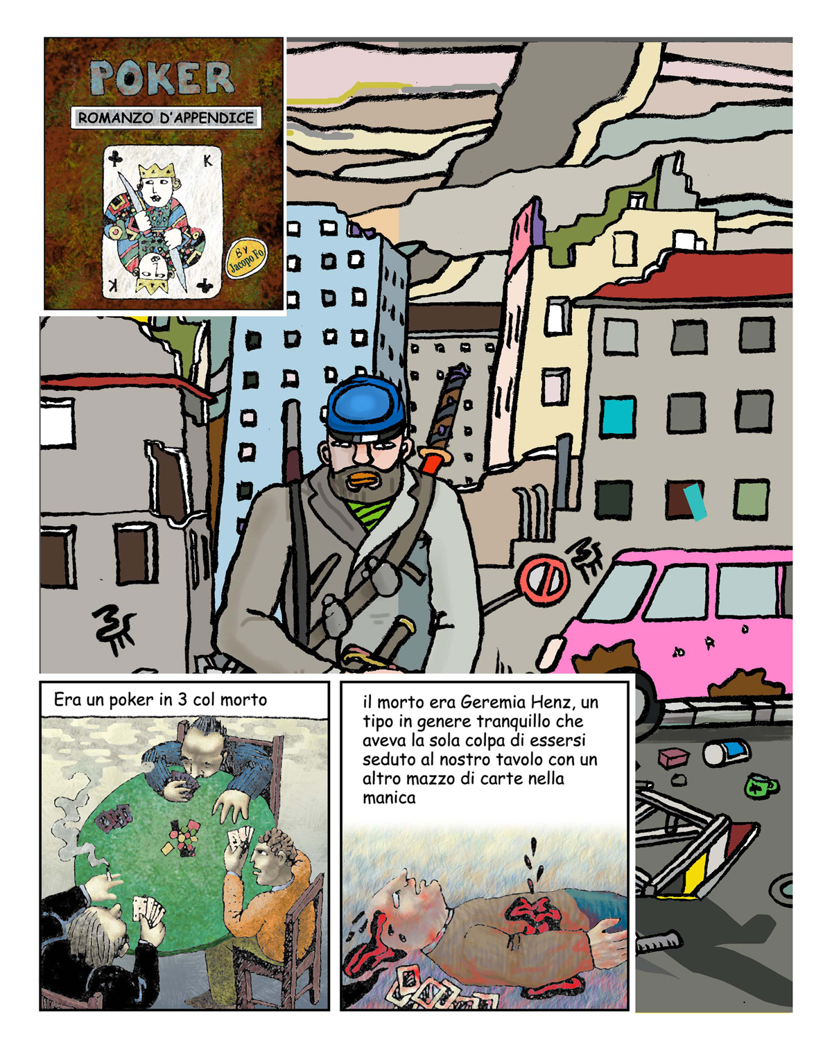 Fumetti di Jacopo Fo Poker