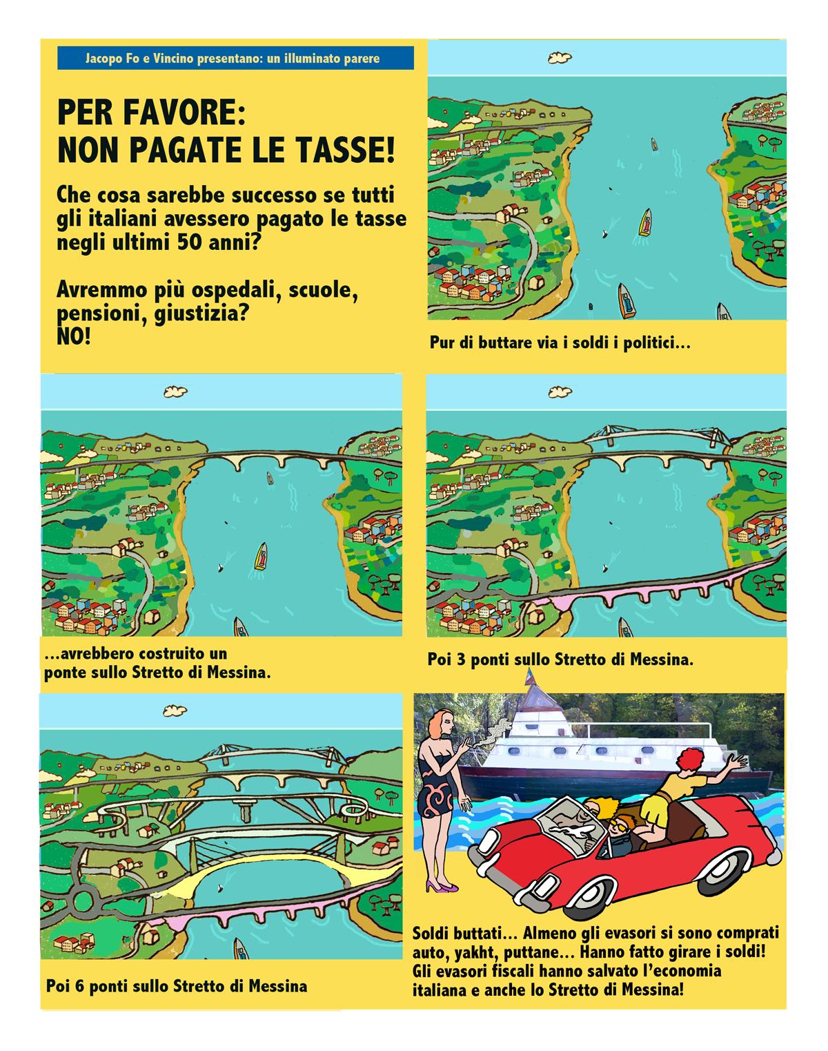 Fumetti Jacopo Fo Ponte sullo Stretto di Messina