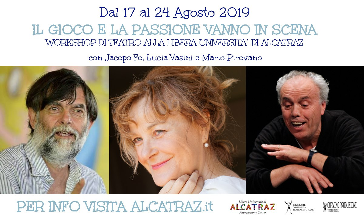 WORKSHOP DI TEATRO PER APPASSIONATI, ATTORI, REGISTI E CURIOSI
