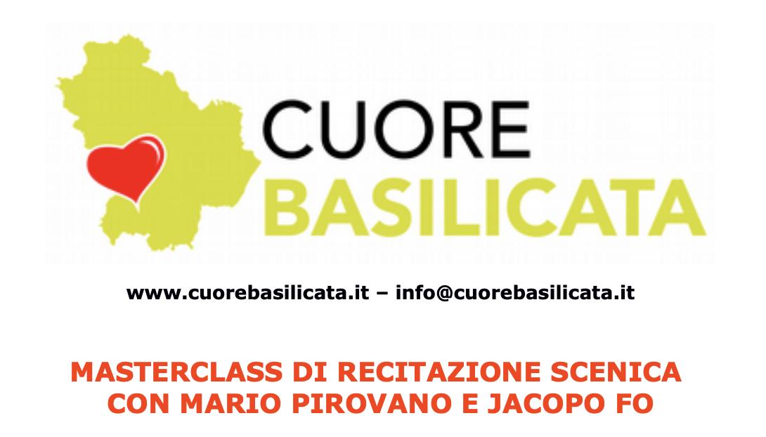 Masterclass di Recitazione Scenica con Mario Pirovano e Jacopo Fo