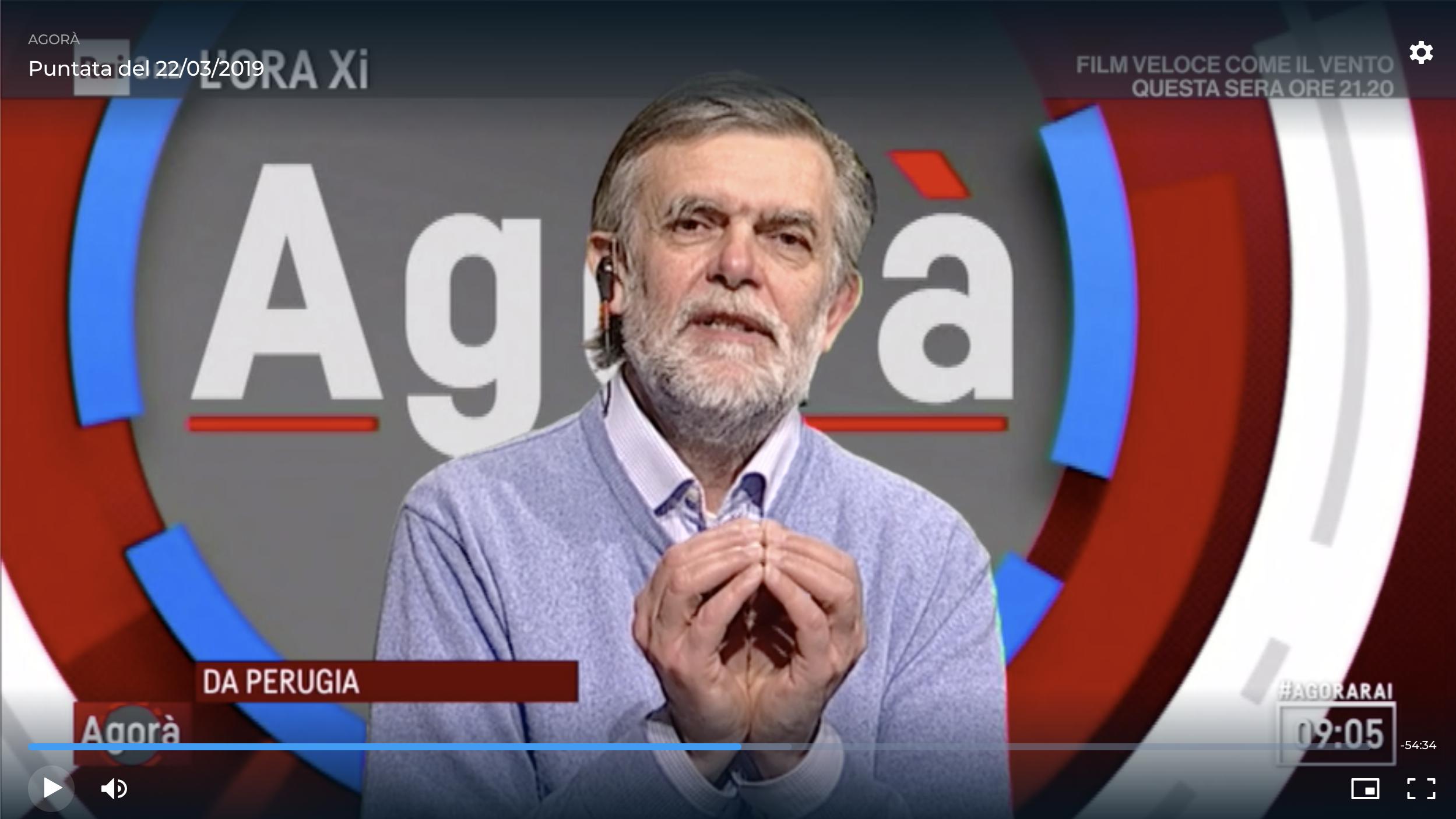Jacopo Fo ospite ad Agorà - puntata del 22/03/2019