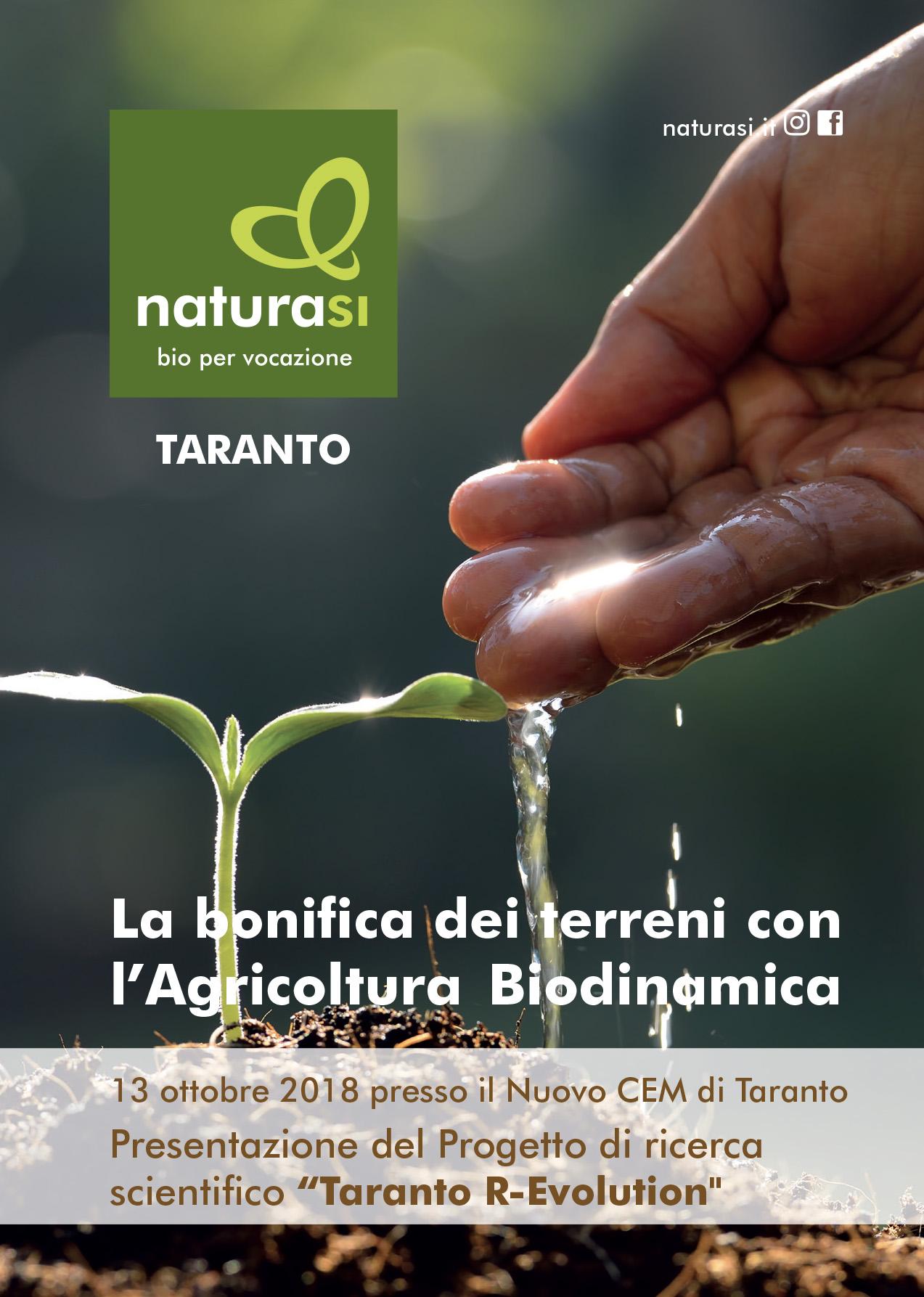 """Sabato 13 Ottobre a Taranto conferenza di presentazione """"Taranto R-Evolution"""""""